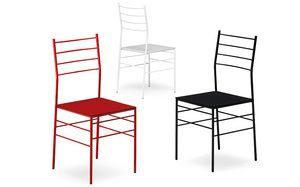 Fred, Chaise ignifugée avec structure en métal