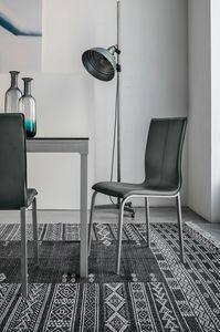 GLAMOUR SE135, Chaise avec coque en cuir pour salle à manger et bar
