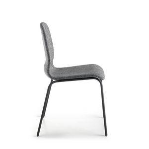 Glamour Up, Chaise rembourrée avec pieds en métal