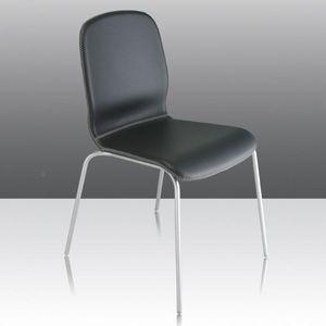 Glamour Up, Chaise ignifuge avec coque rembourrés en cuir, adapté pour l'usage de contrat