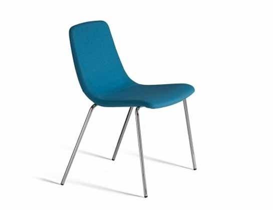 Ics 505MT4, Chaise empilable en métal, avec coque rembourrée