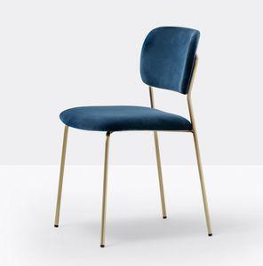 Jazz, Chaise rembourrée avec structure en acier léger