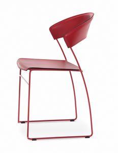Juliette, Chaise en métal très léger, convient également pour une utilisation en extérieur