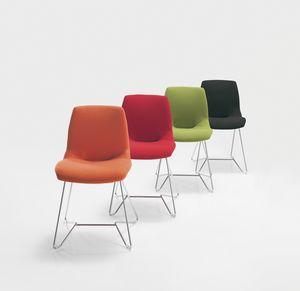 Kaleidos fabric, Métal rembourrés chaise, en différentes couleurs