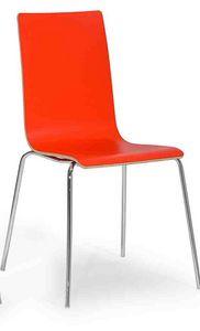 Lilly, Chaise moderne avec pieds en métal