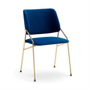 Line, Chaise en métal, avec rembourrage