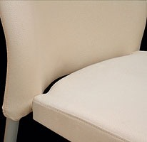 Marostica cod. 11/I, Chaise en métal empilable, rembourrés, pour une utilisation du contrat