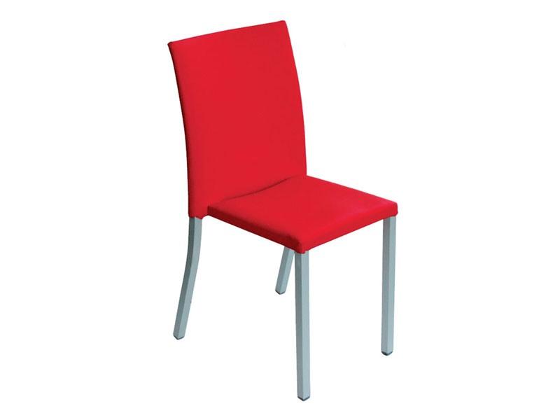 Modena, Chaise empilable rembourrée, en métal, ménage