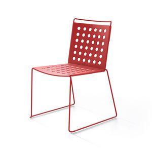 Multi Buco, Chaise d'extérieur lumineuse en aluminium et acier