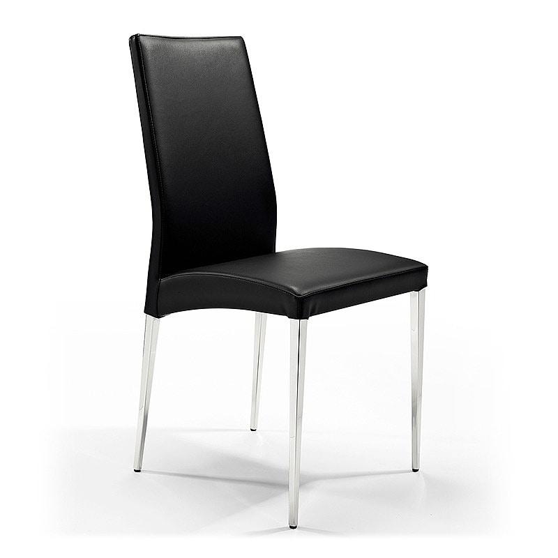 Regina, Chaise en cuir de métal revêtu, pour la réception et le bar