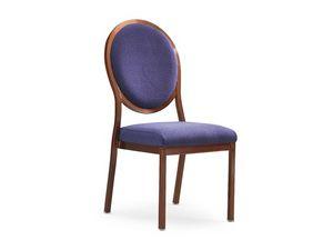 Salon 95/10, Chaise rembourr�e en bois avec syst�me de liaison