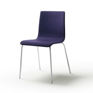 Tesa fabric, Chaise empilable en acier chromé ou vernis