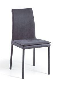 Treviso Top Haut/bas, Chaise rembourrée en métal, empilable et amovible