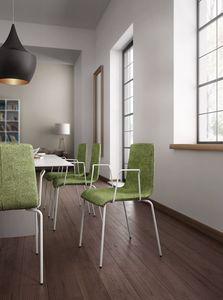 Zerosedici, Chaise rembourrée avec accoudoirs, confortable et enveloppante