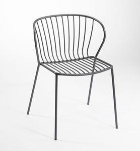 Amitha, Chaise en métal pour l'extérieur