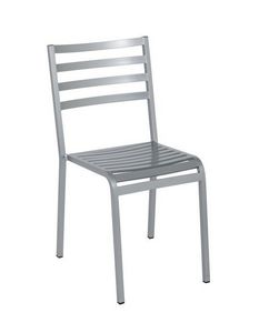 Art.Macrì Outdoor chaise, Chaise en métal pour l'ameublement extérieur, lamelles horizontales