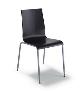 CG 77614, Chaise en métal, avec coque multicouche