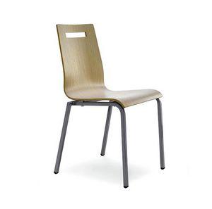 CG 77620, Chaise en métal et contreplaqué