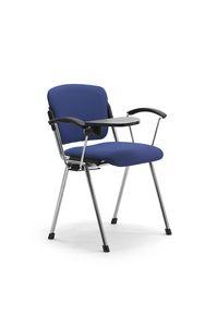 Cortina 6600W, Chaise avec tablette pour les salles de conférence