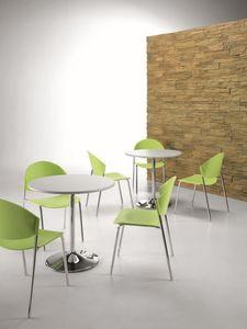 DELFI 083, Chaise empilable en métal et polymère dans différentes couleurs