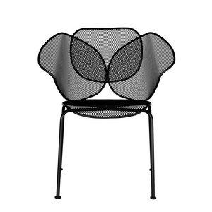 Elitre chair, Chaise de métal extérieur, empilable, adapté pour les bars et les glaces salon