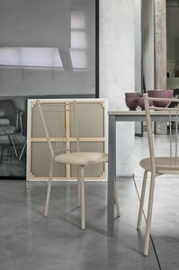 GARDA SE104, Chaise en métal avec assise rembourrée