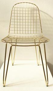 Keller, Chaise de style industriel, finition dorée