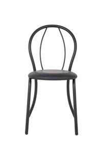 Art.Kris 2, Chaise en métal peint et incurvée, pour une utilisation du contrat