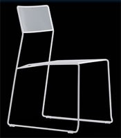 Log mesh, Chaise en métal, empilable et facile à transporter, convient pour une utilisation en extérieur