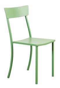 Mogan, Chaise empilable extérieure, en métal galvanisé