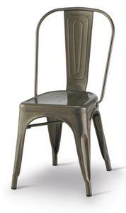 SE 500 / INT, Chaise en métal peint, empilable, pour les restaurants