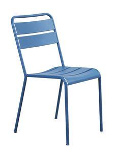 Twist, Chaise empilable, en métal, avec des lignes simples
