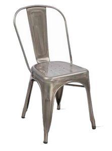 Twix, Chaise empilable en métal galvanisé