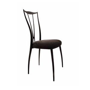 Vilma chaise, Chaise avec structure en fer, siège rembourré en caoutchouc