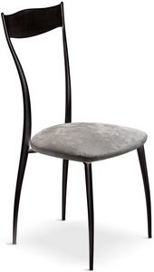 Vilma New chaise, Chaise en métal avec assise rembourrée