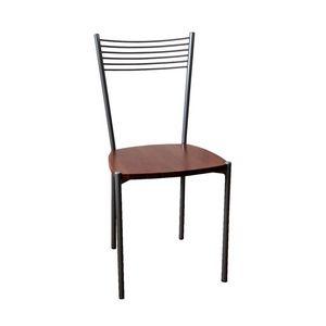Ziva, Chaise avec structure en métal, assise en contreplaqué