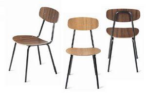 Sandy, Chaise en métal et en bois pour contrat