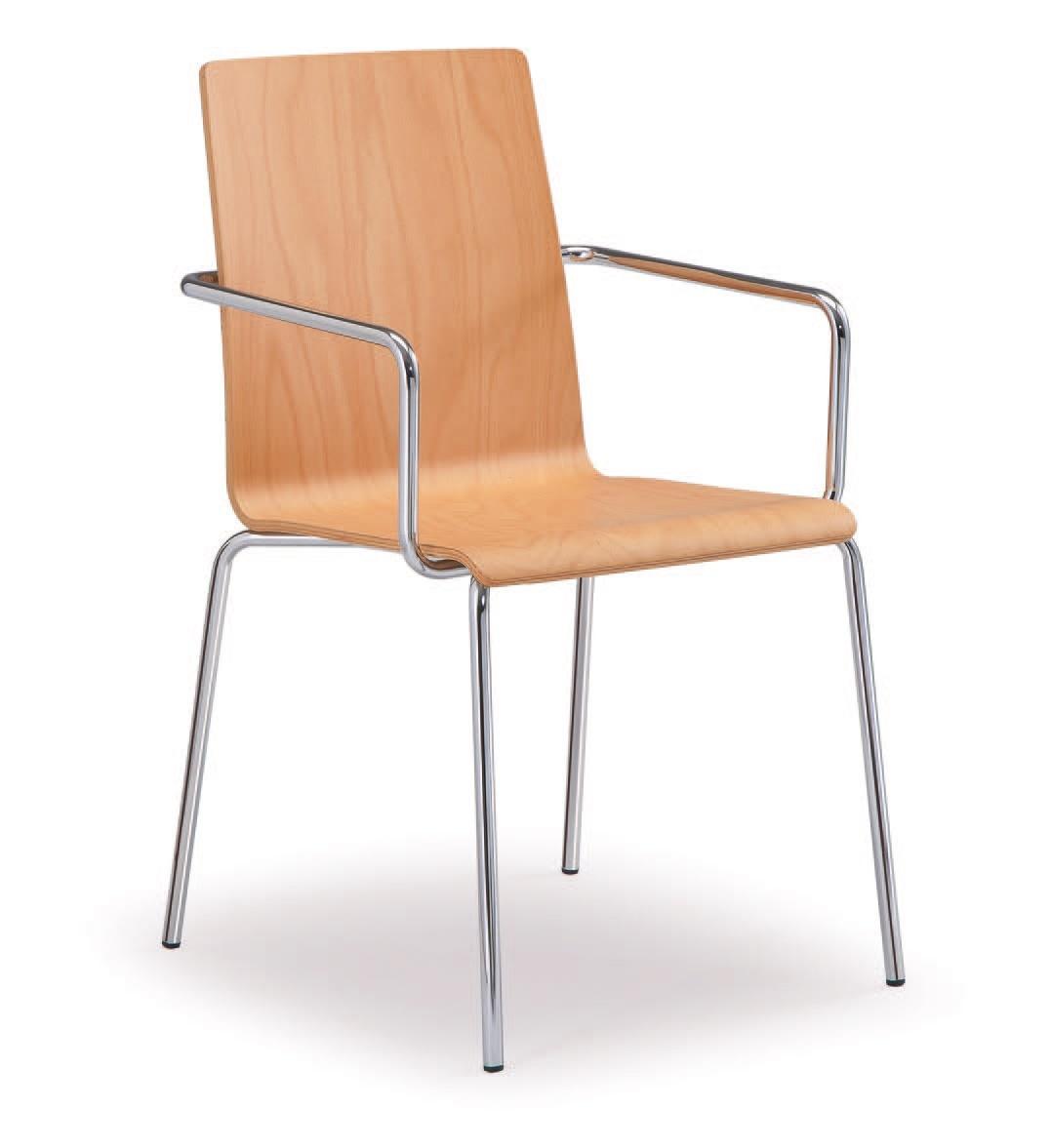 SE 509, Chaise en métal avec coque en bois peint, pour une utilisation du contrat