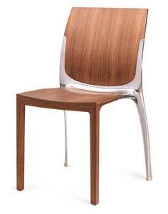 SE 800 / INT, Chaise empilable en bois et métal, pour une utilisation du contrat