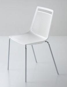 Akami NA, Chaise en métal chromé, coque en technopolymère