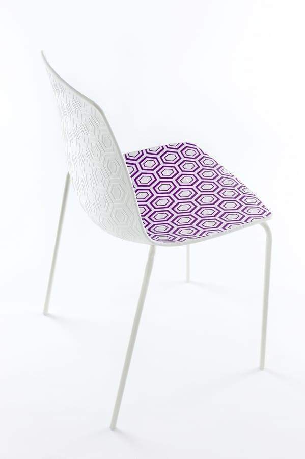 Alhambra, Chaise avec structure en métal, polymère de base