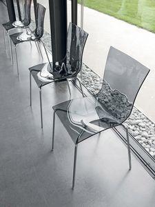ARIA EASY, Chaise en métal au design minimaliste