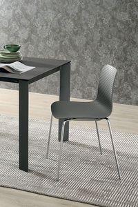 COLONIA SE182, Chaise avec structure en métal, assise et dossier en polypropylène, dans un style moderne
