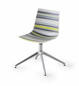 Colorfive L, Chaise avec coque en plastique multicolore