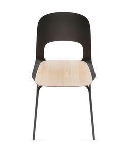 Cora, Chaise légère, avec le dos en nylon et métal de base