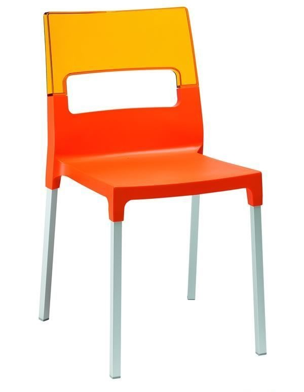 Diva chair, Chaise en polycarbonate transparent, multicolore
