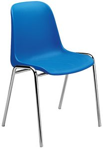 Elena, Chaise avec siège en polypropylène, pour salles polyvalentes