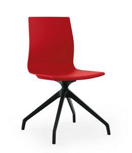 Q3, Chaise avec piètement araignée en Nylon