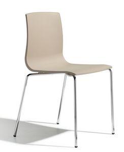 SE 2675.INT, Chaise empilable avec structure en métal et corps en plastique adapté pour les bars et les cuisines