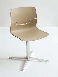 Slot L, Chaise design pivotant avec coque en polymère
